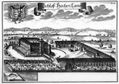 Grossansicht in neuem Fenster: Kupferstich des Schlosses Hohenkammer von Michael Wening in der Topographia Bavariae um 1700